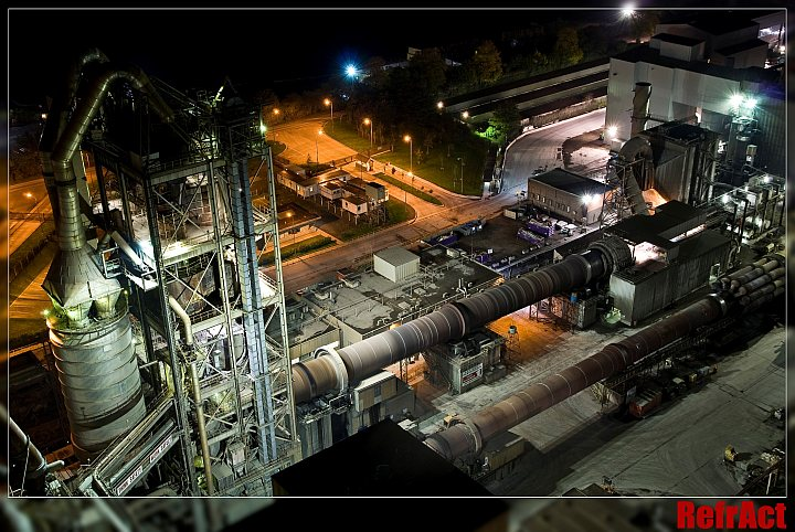 cement plant view from overhead